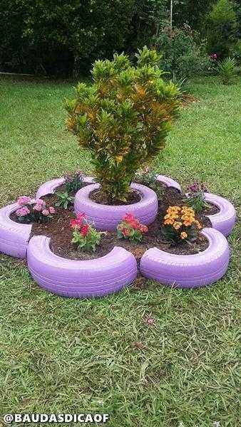 74a7175b45847b244b0af9bb868d3637 16 Ideias para reaproveitar pneus no seu jardim