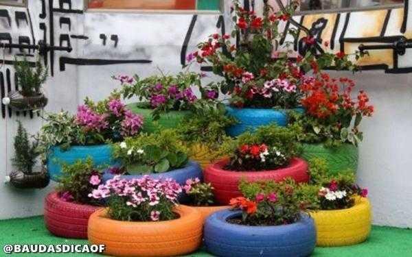 16 Ideias para reaproveitar pneus no seu jardim | Baú das DICAS