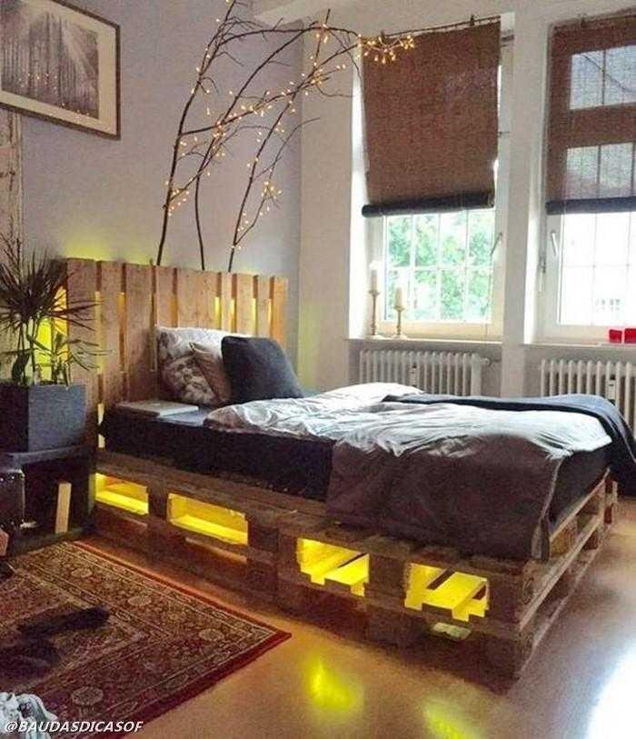 16 Ideias belíssimas com paletes para decorar o quarto 10