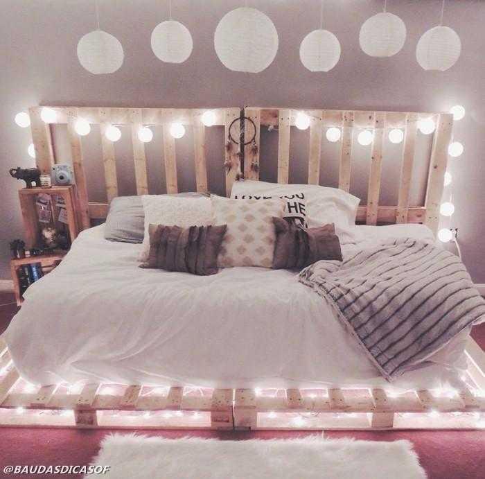 16 Ideias belíssimas com paletes para decorar o quarto 12