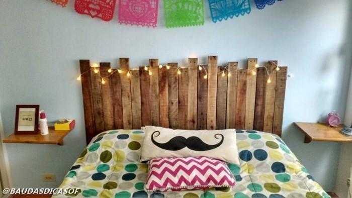 16 Ideias belíssimas com paletes para decorar o quarto 14
