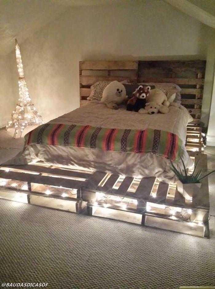 16 Ideias belíssimas com paletes para decorar o quarto 7