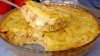 Torta de mandioca com frango e catupiry f