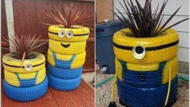 Foto de 16 Ideias para reaproveitar pneus no seu jardim