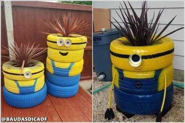 bc0858f567ba0206e1696e61d1f8c14e 16 Ideias para reaproveitar pneus no seu jardim