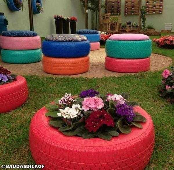 gumi 9 16 Ideias para reaproveitar pneus no seu jardim
