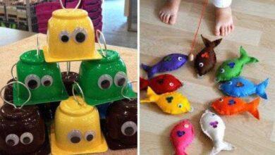Foto de 10 ideias de jogo de pescaria para crianças