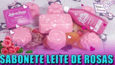 Foto de Pele macia e perfeita com sabonete de leite de rosas hidratante