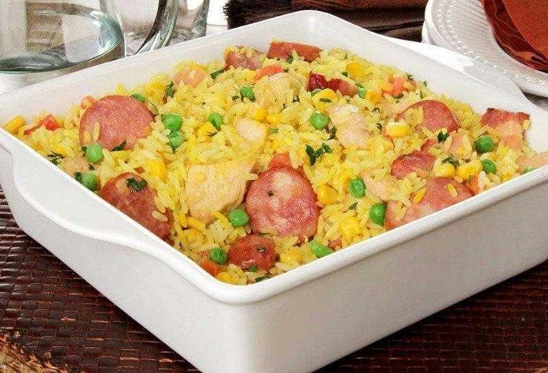Arroz caipira com frango, calabresa e legumes 20