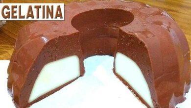 Foto de Receita de Gelatina de Chocolate Recheada