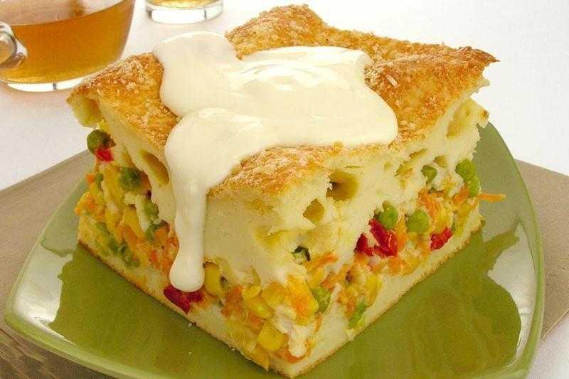 Torta de legumes com requeijão maravilhosa
