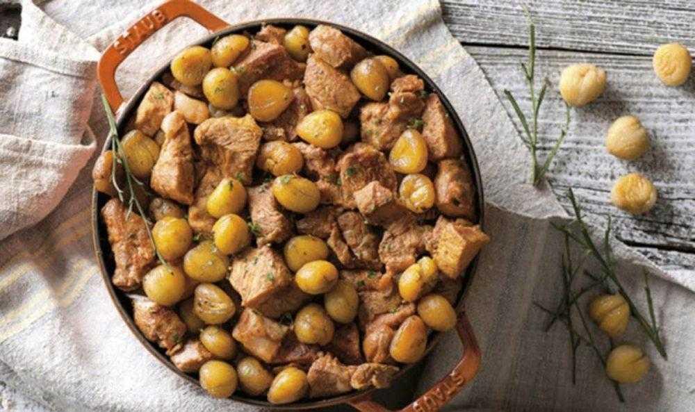 Receita de carne de porco com castanhas | Baú das DICAS