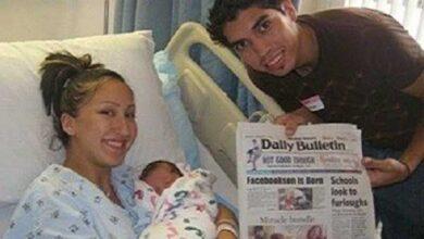 Foto de Casal se conhece pelo Facebook e dá o nome do filho de Facebookson