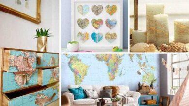 Ideias de decoração com mapas