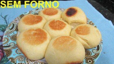 Photo of Pão de frigideira feito na boca do fogão sem forno e assa em 15 minutos