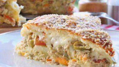 Foto de Torta salgada com sobras de arroz deliciosa e pratica
