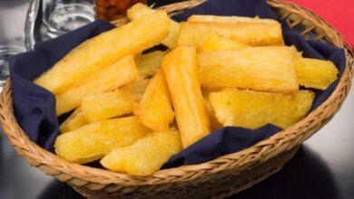 Mandioca assada – mais crocante e saudável