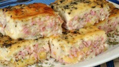 torta de presunto e queijo de liquidificador