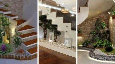 Foto de 12 Ideias para jardim embaixo das escadas