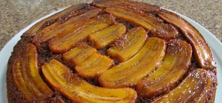 receita de torta de banana integral