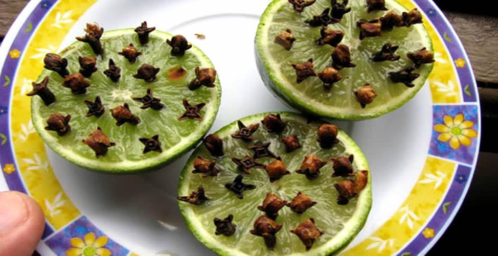 Como Eliminar Mau cheiro da Cozinha - Limão e Cravo