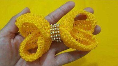 Foto de Como Fazer um Lindo Laço Boutique de Crochê