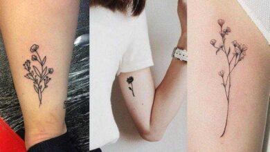 Foto de Modelos de tatuagens de flores delicadas e femininas