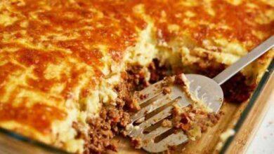 Torta de Batata com Carne Moída