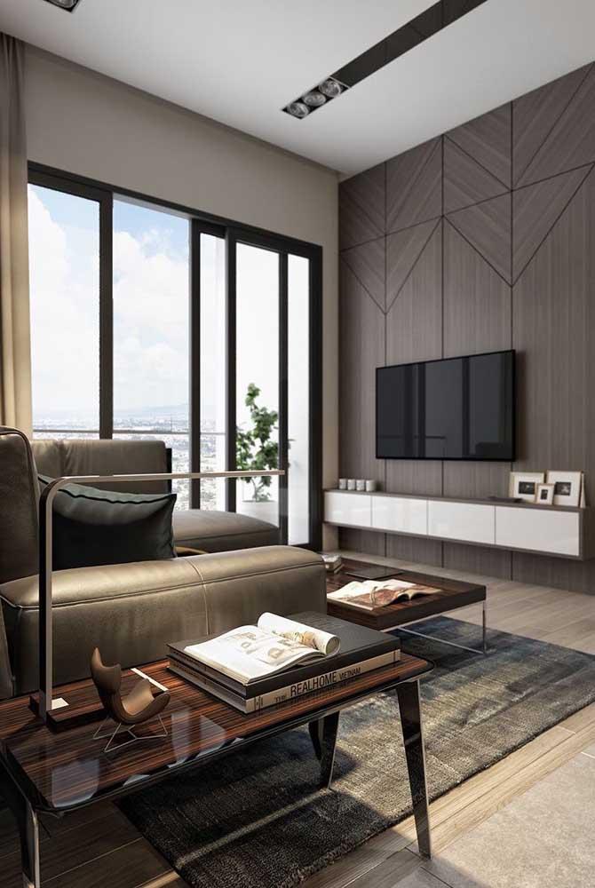 Uma boa iluminação faz toda a diferença na sala de TV.