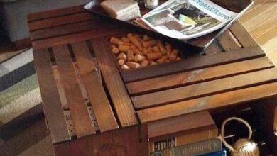 Foto de Como decorar a sala de estar com material reciclável
