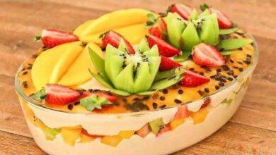 Sobremesa Simples de Frutas - Artes em Geral
