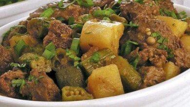 Foto de Carne moída com quiabo e batata