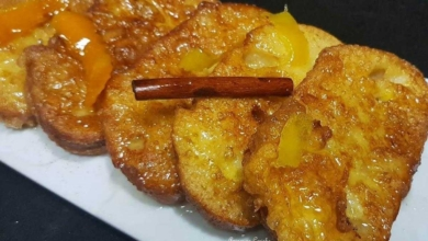 Foto de Rabanadas com calda de laranja