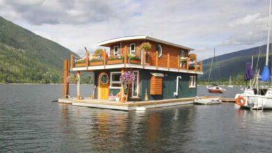 Foto de Homem constrói casa flutuante de sonho