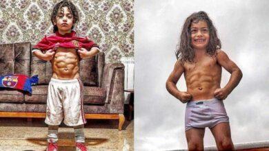 Foto de Criança musculosa de apenas 6 anos viraliza e divide opiniões