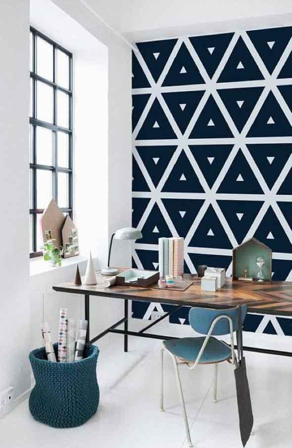 Como fazer estampas geométricas nas paredes