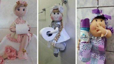 Foto de Como fazer boneca de pano porta papel higiênico