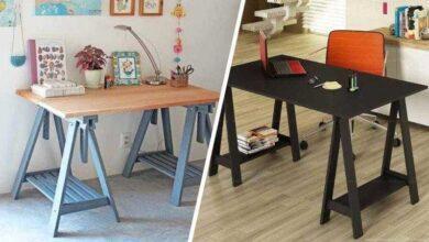Como montar uma mesa de cavaletes em casa