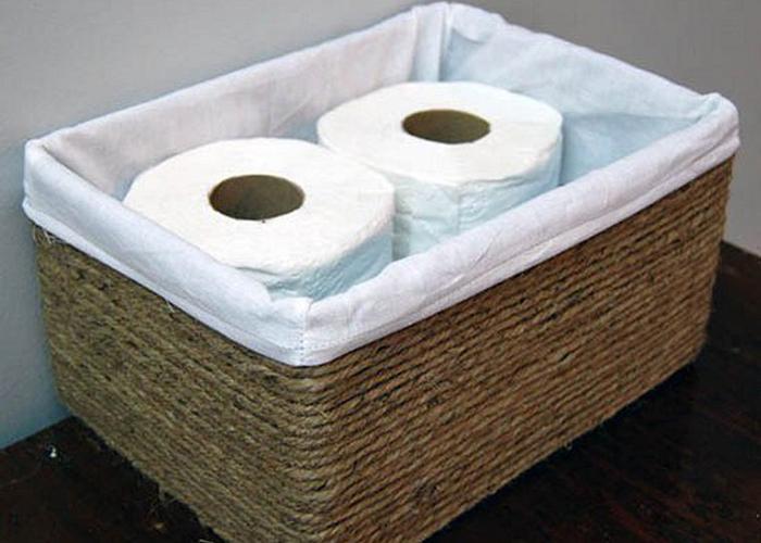 caixa6 - Transforme caixas de papelão cestas decorativa 1