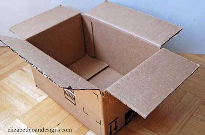 caixa1 - Transforme caixas de papelão cestas decorativa 1
