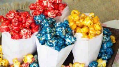Foto de Pipoca doce colorida deliciosa
