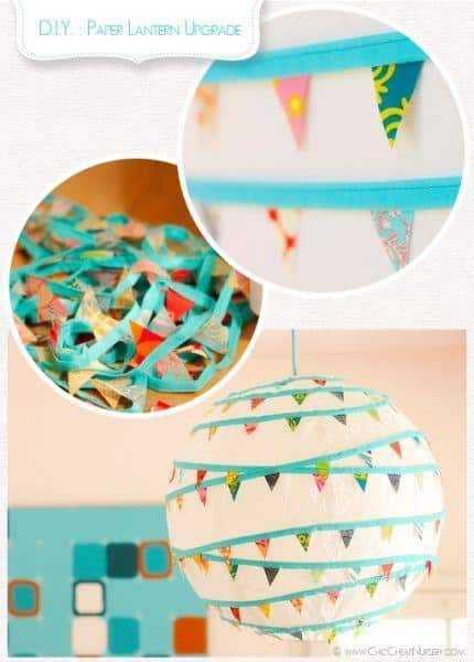 como decorar lanterna japonesa com bandeirinhas