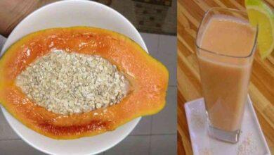 Foto de Bebida de mamão e canela limpa o intestino e ajuda a reduzir a gordura do corpo