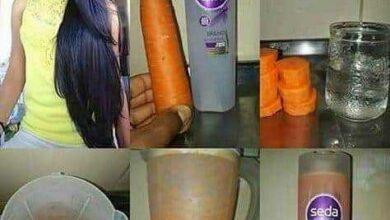Foto de Receita de shampoo de cenoura para brilho e crescimento dos cabelos