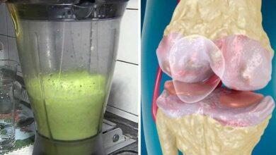 Suco de couve para dor nos ossos causada por artrite e artrose
