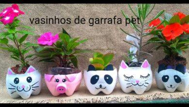Vasinhos Decorados de Garrafa Pet