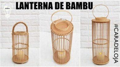 Foto de Faça Com Palitos de Churrasco Uma Lanterna Decorativa