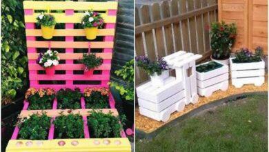 Foto de Ideias com pallets para fazer no jardim