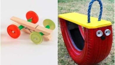 Ideias de brinquedo de material reciclado