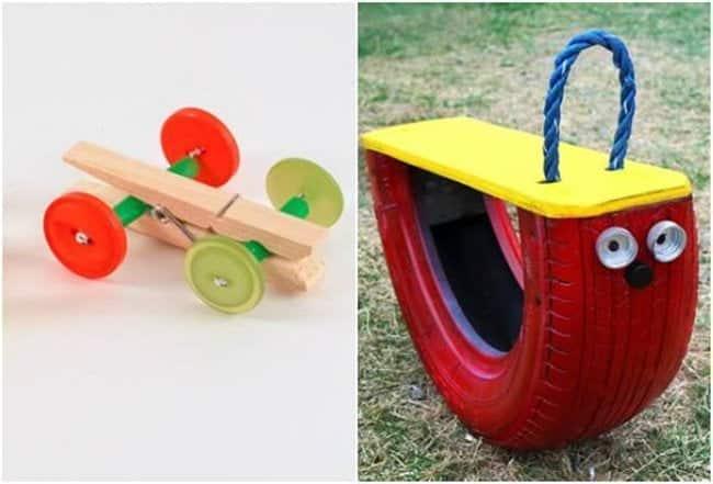 Foto de Ideias de brinquedo de material reciclado